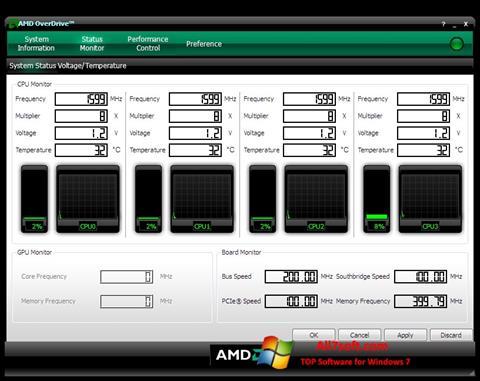 Screenshot AMD Overdrive für Windows 7