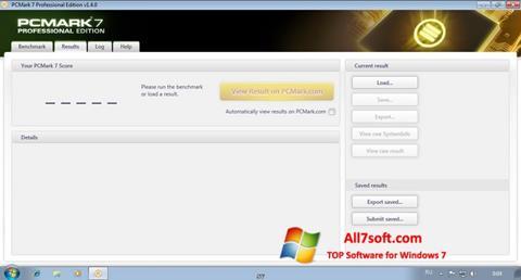 Screenshot PCMark für Windows 7