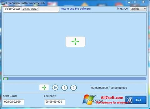 Screenshot Free Video Cutter für Windows 7